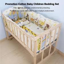 uinn 100 58cm 5pcs set promotion cotton baby children bedding set yellow