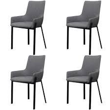 Vidaxl Esszimmerstühle 4 Stk Stoff Grau