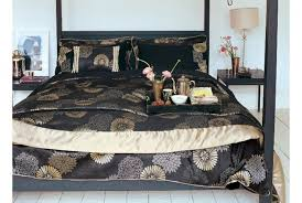 stylish bedeck zen bedding set in black gold absolute home black and gold bedding sets ideas