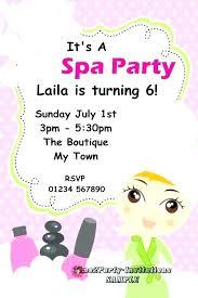 Spa Party Invitations Templates Free Zebra Print Spa Birthday Party