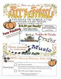 Fall Festival Flier Fall Festival Saturday Program Reeceschool Org