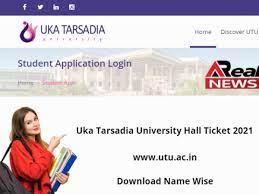 Uka Tarsadia University Hall Ticket 2021 - www.utu.ac.in