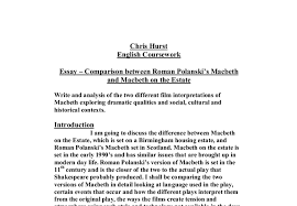Comparison Between Roman Polanski 146 S Macbeth And Macbeth On The
