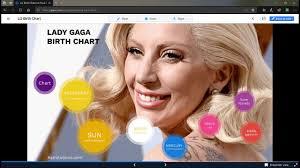 Lady Gaga Birth Chart Lady Gaga Birth Natal Chart Youtube
