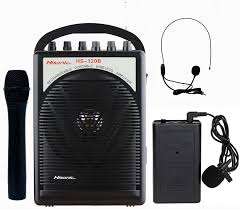 sound system. amazon.com: hisonic hs120b lithium battery rechargeable \u0026 portable pa (public address) system with built-in vhf wireless microphone, car cigarette lighter sound d