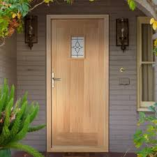 cottage style front doorsCottage External Oak Door with Bevel style Tri Glazed