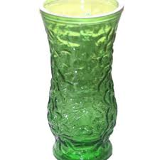 vintage hoosier glass vase home decor vase home decor green glass green