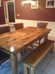James James 6 Farmhouse table in Vintage Early American stain
