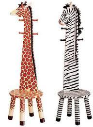 Giraffe Coat Rack Coat rack stools in giraffe and zebra designs Cosy Home Blog 41