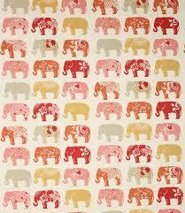 Elephant Pattern Custom Elephants Clarke Fabric Spice Just Fabrics