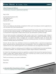 Samples Of Cover Letter Stunning Sample Cover Letter For Chief Financial Officer Sharon Graham