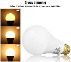 Light Bulb Levels Torchstar 2 Pack 3 Way A21 Led Light Bulb For Bedroom 40 60