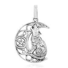 sterling silver howling wolf pendant without chain 4 4 g pendants jewelry lc