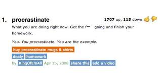 the best of urban dictionary the fourth edition the hoya s blog procrastinate