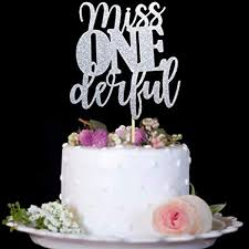 Amazoncom 1st Birthday Cake Topper Miss Onederful For One Year