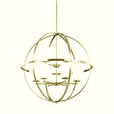 brushed nickel orb chandelier ideas