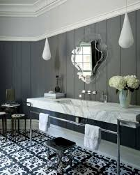 Bathroom mirror with light in art deco style