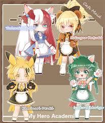 Us 46 95 Anime Cosplay My Hero Academia Coffee Shop Little Hero Izuku Midoriya Deku Cafe Maid Female Cosplay Costume Cat Woman Dress In Anime