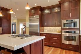 Cherry kitchen cabinets Red Natural Cherry Kitchen Cabinets Cherry Kitchen Electric Single Wall Oven Smeg Classic Gas Cooktop Built In Decohoms Fancy And Natural Cherry Kitchen Cabinets Decohoms