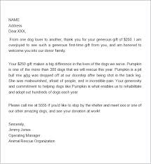 thank you letter to donors sample donation letter for non profit general donation letter