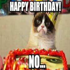 grumpy cat i had a birthday once. Fine Once Happy Birthday No And Grumpy Cat I Had A Once