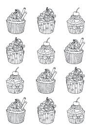 Small Picture cupcakes easy celine Cup Cakes Coloring pages for adults