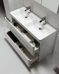 Acrylic Bathroom Sink Eviva Glazzyar 48 White Modern Bathroom Vanity With White Acrylic