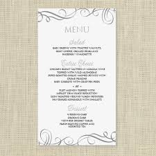 Ms Word Menu Templates Wedding Menu Card Template Download Instantly Edit