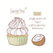 Hand Drawn Cupcake With Doodle Stock Vector Colourbox