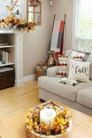 fall living room decor clean and