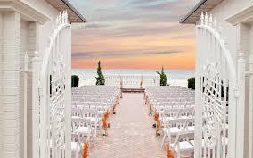 beachfront wedding venue at sunset