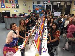 our orlando twisters are enjoying an evening of partying while creating a beautiful sunset whether
