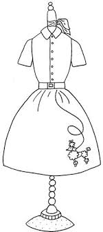 Small Picture Poodle Skirt Coloring Page Coloring Home