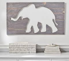 on white wood cutout wall art with elephant cutout gray wood plaques art