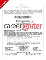 Teacher Resume Sample Career Igniter