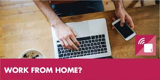 smart home office. work from home make your office for you with connected tech smart