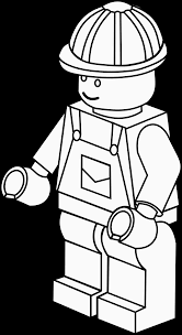 More Complex Lego Figure Colouring Sheet