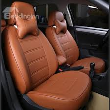 67 classic and concise designed pure color pu leatherette material custom fit car seat covers