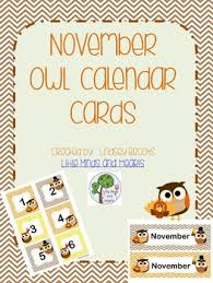 november calendar header november owl calendar cards and headers by little minds and hearts
