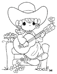 Cowgirl Coloring Pages Cowgirl Coloring Pages Printable Coloring