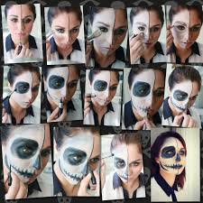 what you ll need for a basic skeleton costume makeup i used my makeupforever flash palette but any halloween costume makeup or face paint at your local