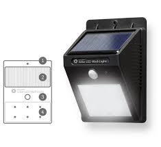 Vintage Style 17u0027u0027 H Black Finish Solar LED Waterproof Outdoor Solar Led Wall Lights