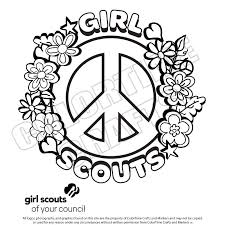 Small Picture Coloring pages for girl scouts timeless miraclecom