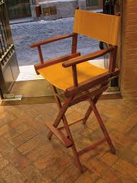 high director s chair in natural leather and wood