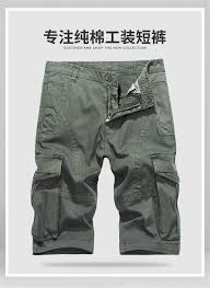 Mens Designer Cargo Shorts Sale 2019 Army Cargo Shorts Men Clothes 2018 Summer Cotton Solid Color Shorts Men Safari Style Plus Size Knee Length J317 From Elseeing 30 86