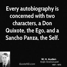 W H Auden Quotes QuoteHD Magnificent Don Quixote Quotes