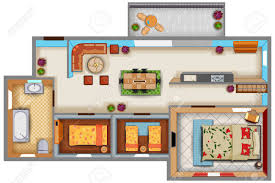How To Plan Interior Design Top View Of Floor Plan Interior Design Layout For House With