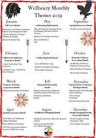 August Theme Calendar Monthly Themes 2019 Calendar