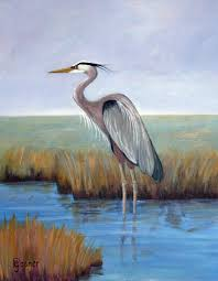 great blue heron by pam gosner