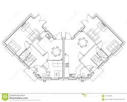 House Plan And Design Blueprint House Layout Design Blueprint Isolated Stock Illustration